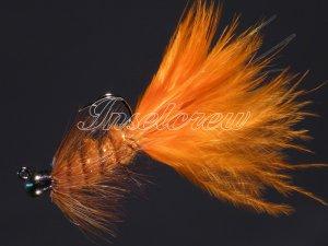Tungsten Wooly Bugger Orange Jig